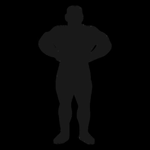 Muscular hands waist silhouette