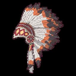 Ilustración de lado de tocado nativo