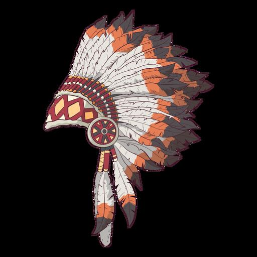 Native headdress side illustration
