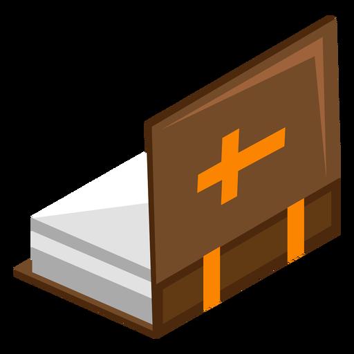 Biblia plana con tapa abierta