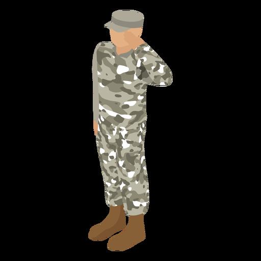Patrol green uniform isometric