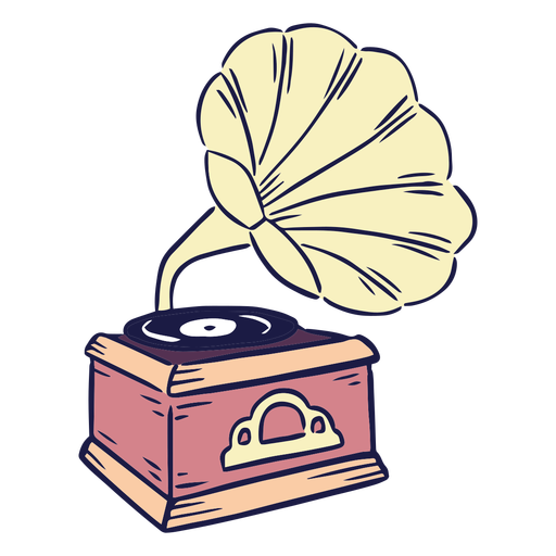 Phonograph music color stroke
