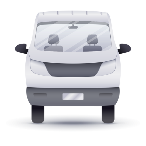 Pick-up truck front realistic