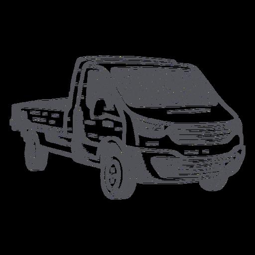 Pick-up truck hand-drawn