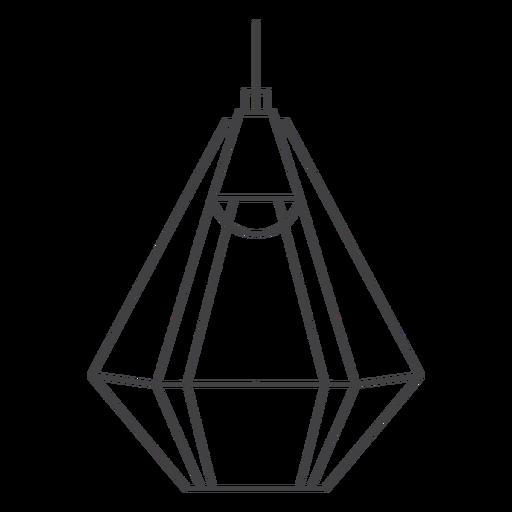 Arte de linha de abajur poligonal