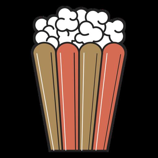 Traço colorido de filme pipoca
