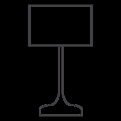 Curso de abajur retangular