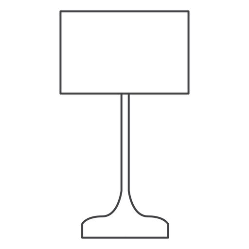 Rectangular lamp shade stroke