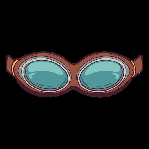 Ilustración de gafas de moto retro