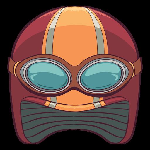 Retro motorcycle helmet illustration