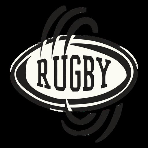 Insignia de giro de pelota de rugby