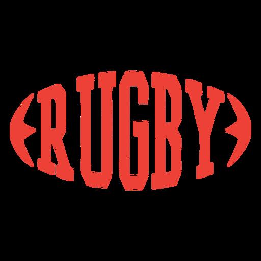 Insignia de pelota de forma de letras de rugby