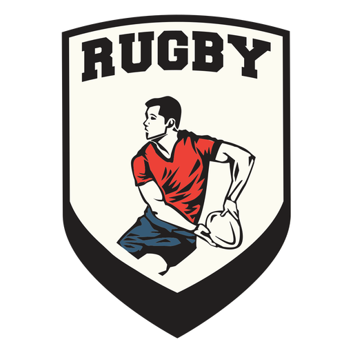 Insignia de jugador de escudo de rugby