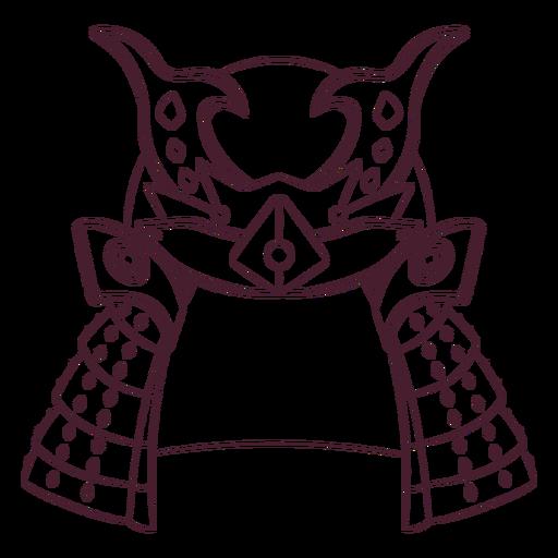 Samurai helmet hand-drawn