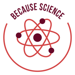 Science matter symbol badge