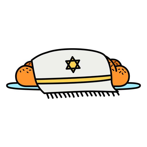 Shabbat Challah bread color-stroke