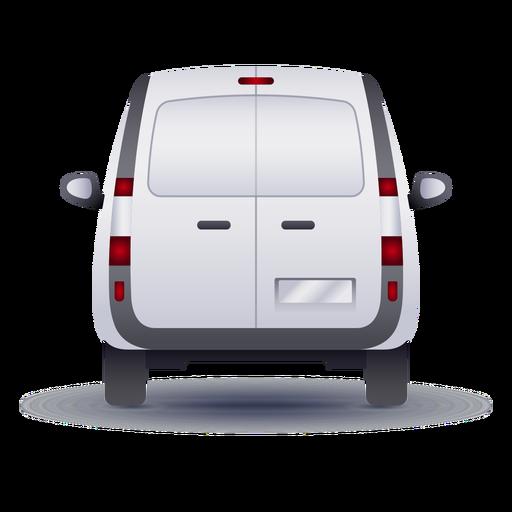 Small van back realistic