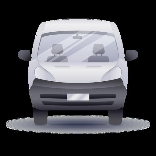 Small van front realistic