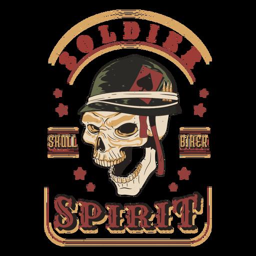 Insignia de calavera de espíritu soldado