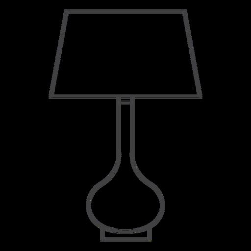 Table lamp line art