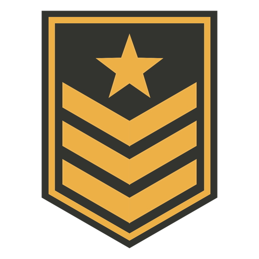 Triangle line military patch badge