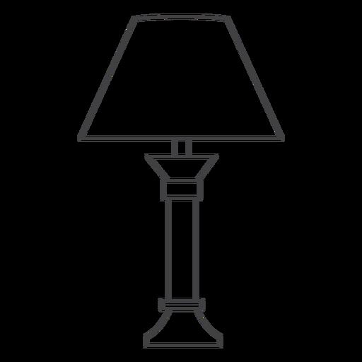 Triangular lamp shade stroke