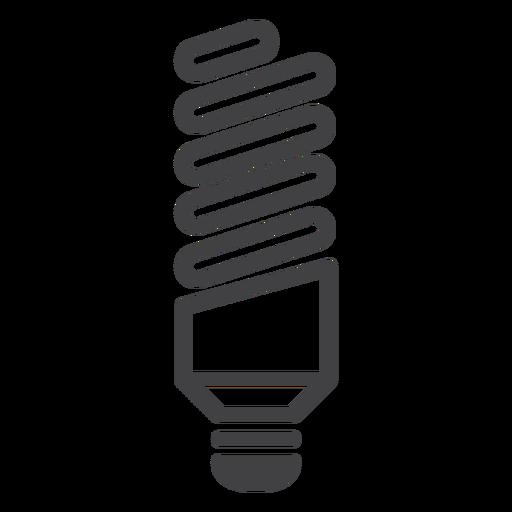 Trazo de lámpara fluorescente retorcida