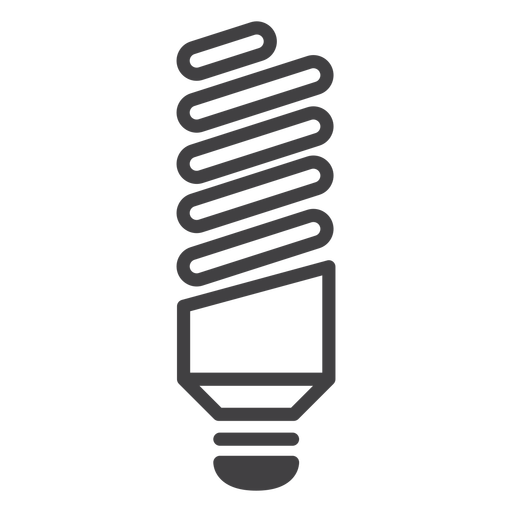 Twisted fluorescent lamp stroke