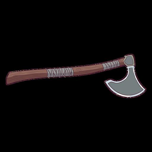 Ilustración de hacha vikinga