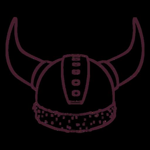 Casco vikingo dibujado a mano