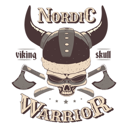 Insignia nórdica de calavera vikinga