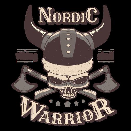 Viking skull nordic badge