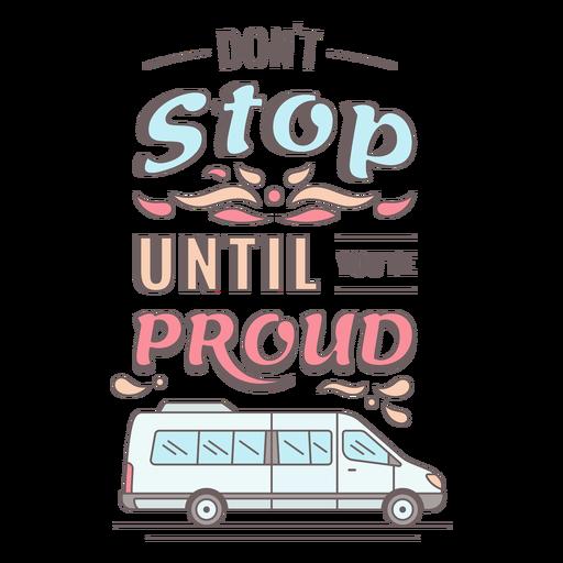 Letras motivacionales de furgoneta vintage