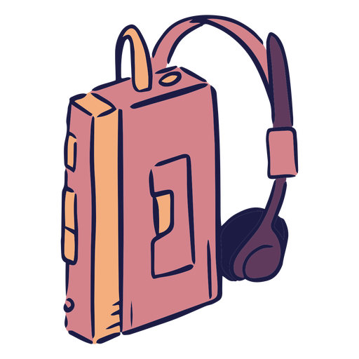 Walkman music doodle