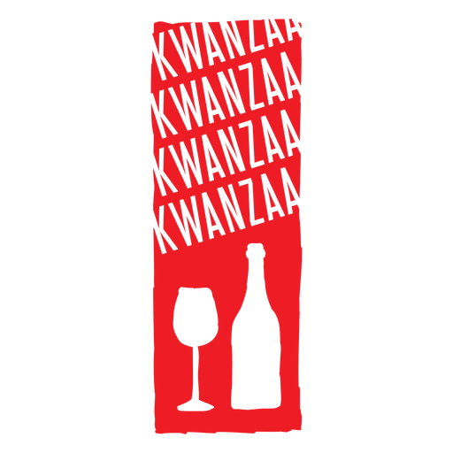 Wine Kwanzaa vertical