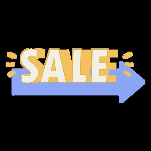 Sale sign arrow