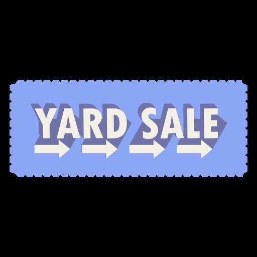 Yard sale sign arrow