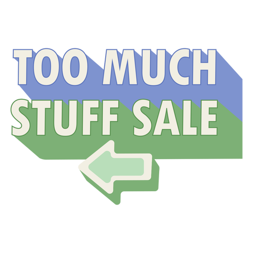 Stuff for sale sign arrow