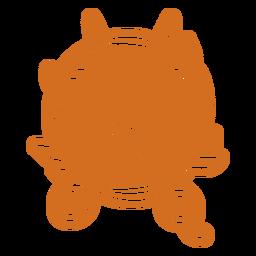 Round of branches scissors badges