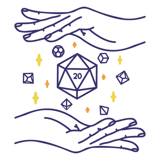 Role playing dice hands
