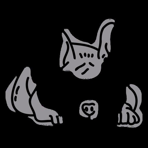 Color stroke semi colored pug
