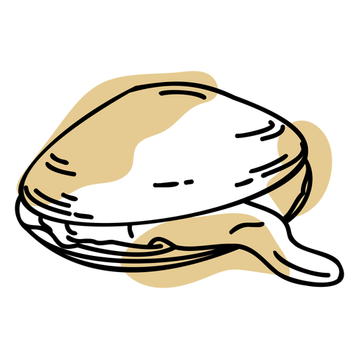 Brown color stroke clam shell Transparent PNG