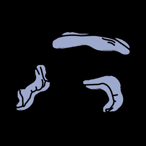 Semi colored color stroke hippo