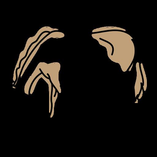 Horse color stroke Transparent PNG