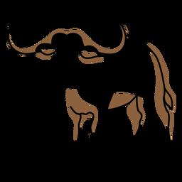 Traço colorido de touro