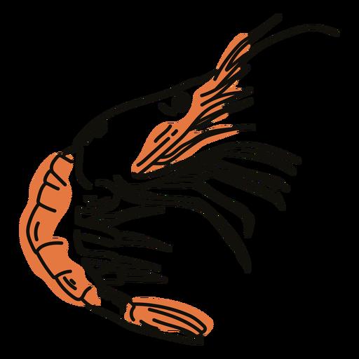 Shrimp color stroke