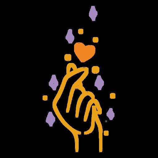 Finger gesture heart