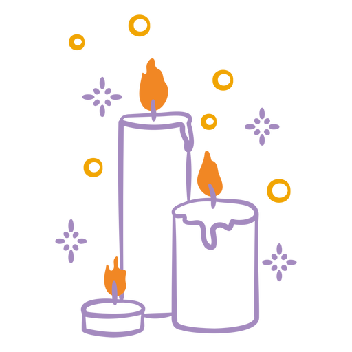 Candle flame festive