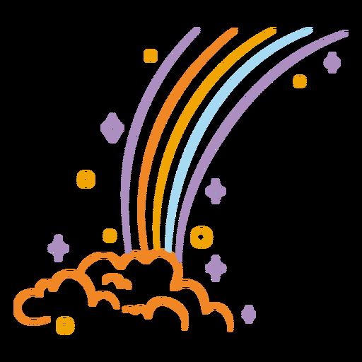 Rainbow cloud stroke