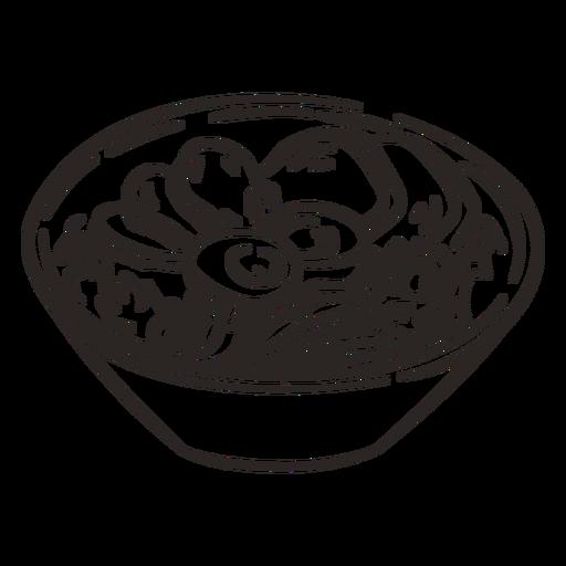 Ramen bowl japanese food stroke